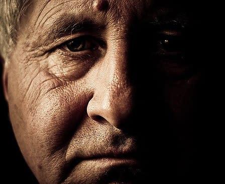 face of an older man