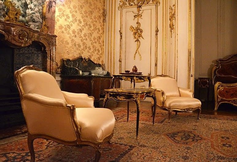 antique furniture in a countrystyle house or castle