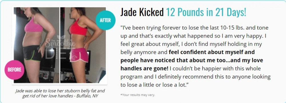 screenshot Jade lost weight