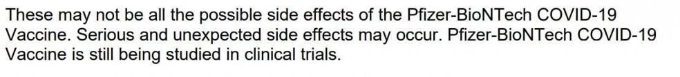 still being studied in trials, Pfizer