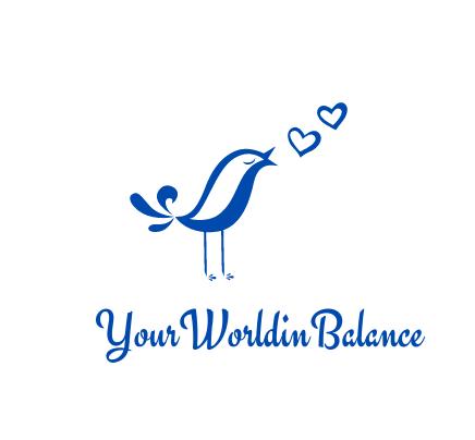 logo your world in balance