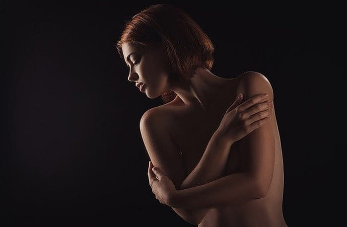 a naked woman