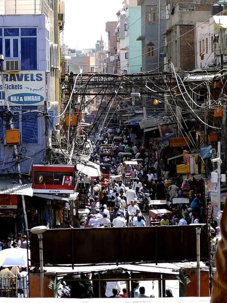 India, crowded city